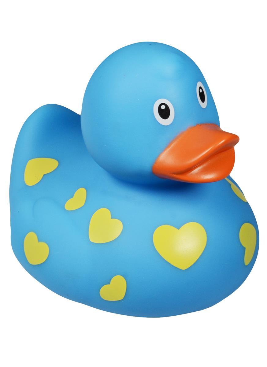 Уточка голубая в сердечках