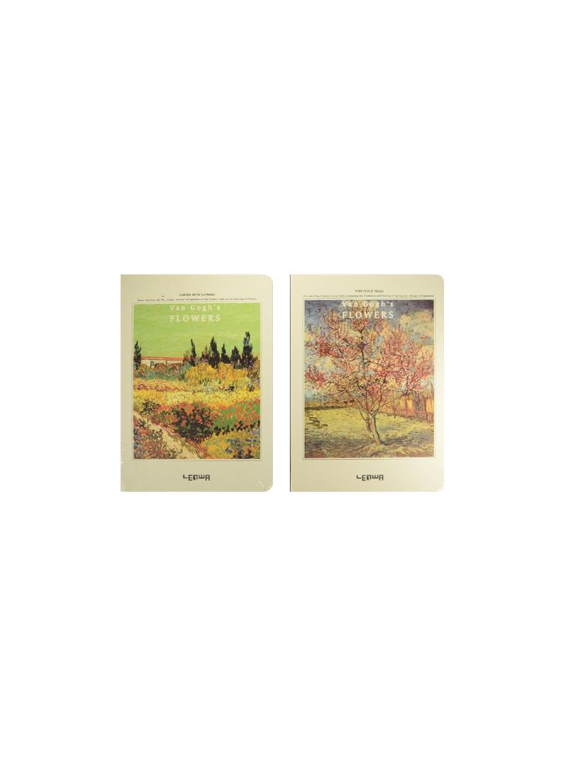 Блокнот Van Gogh`s Flowers (LYA51285-2789DC) (12078900) (золотой срез) (ляссе) (12,8х18,8) (Небесный дракон)