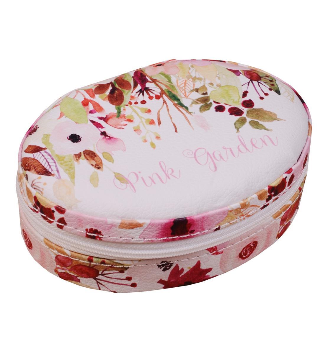 Шкатулка для ювелирных украшений Pink garden (21х15х6см) кожзам