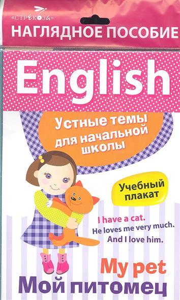 My pet. Мой питомец. Наглядное пособие. English. Устные темы для начальной школы