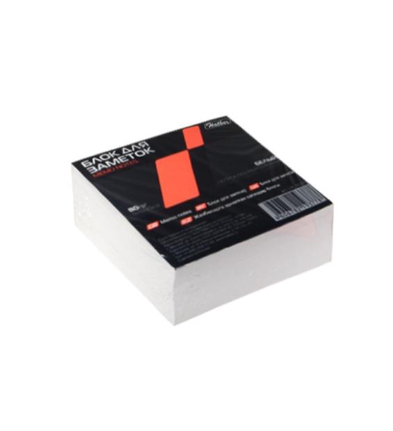 Блок для заметок 9*9*4,5см, белый, непроклеенный, Hatber
