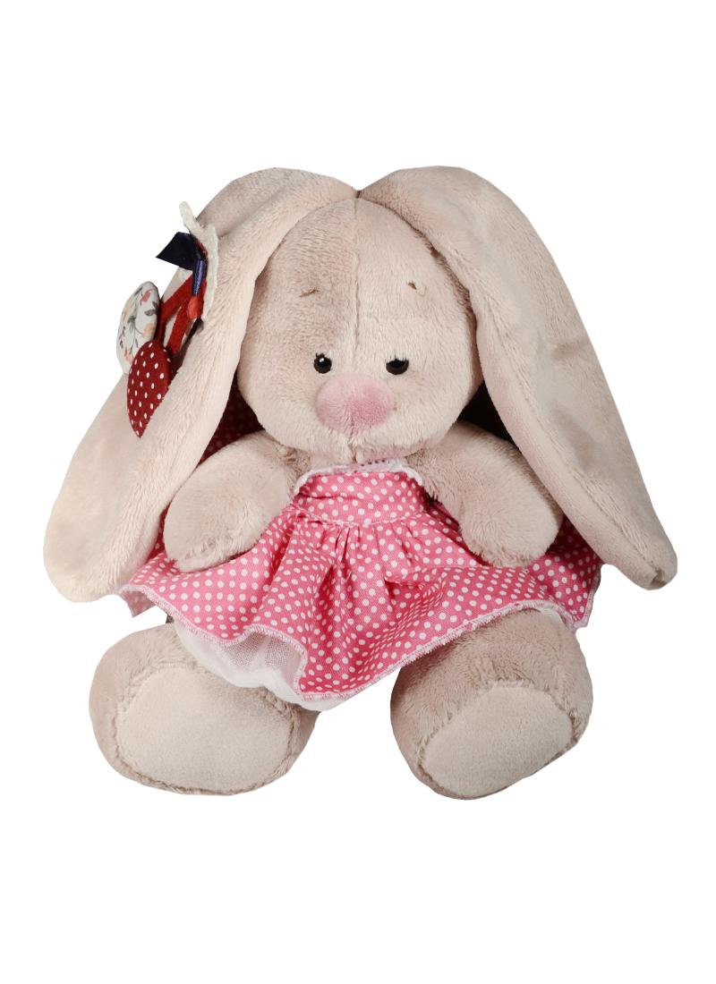 Мягкая игрушка Зайка Ми  в розовой юбочке и с вишней (15 см) (SidX - 167)