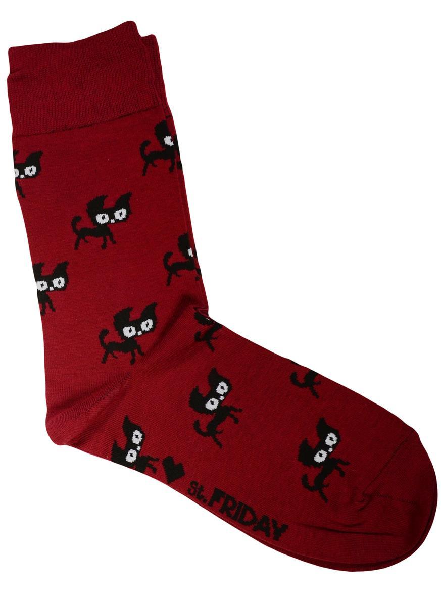 Дизайнерские носки Котята бордо (размер 39-41)