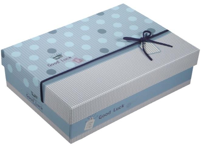 """Коробка подарочная """"Голубой горох"""", 25*17,5*7,5см"""