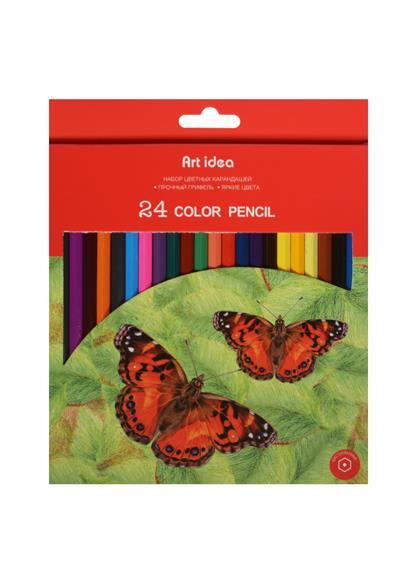 Карандаши цветные 24цв к/к, подвес, Art idea