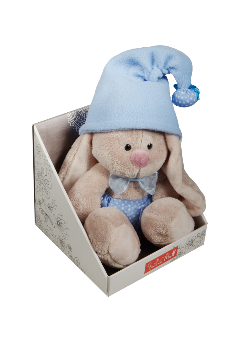 Мягкая игрушка Зайка Ми гномик в голубом (15 см) (SidX - 117)