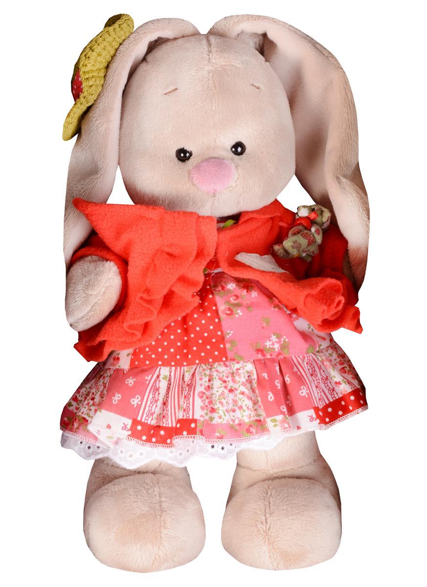 Мягкая игрушка Зайка Ми в маково-красном платье (25 см)
