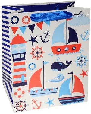 """Пакет подарочный бумажный """"Морской"""", А5"""