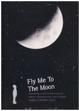 "Записная книжка ""Fly me to the moon"", А6, 180л"