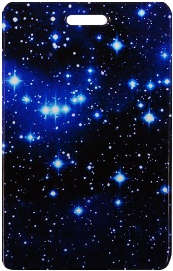 """Чехол для карточек """"Космос. Звезды на синем фоне"""""""