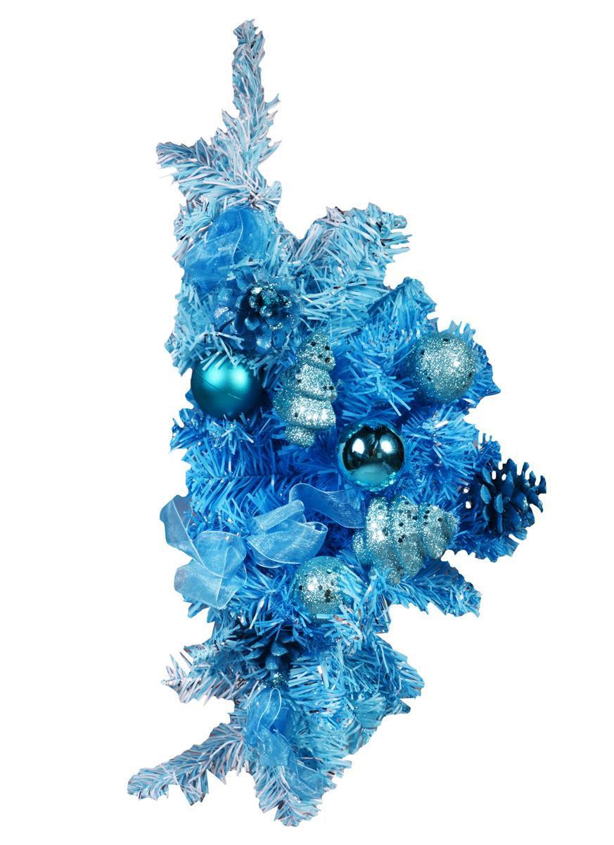Украшение настенное хвойное (45см) (голубое)