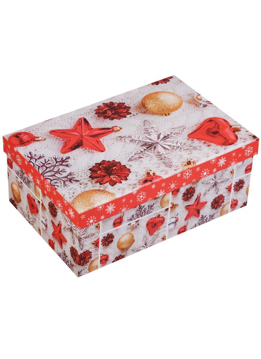 """Коробка подарочная """"Новогодние игрушки"""""""