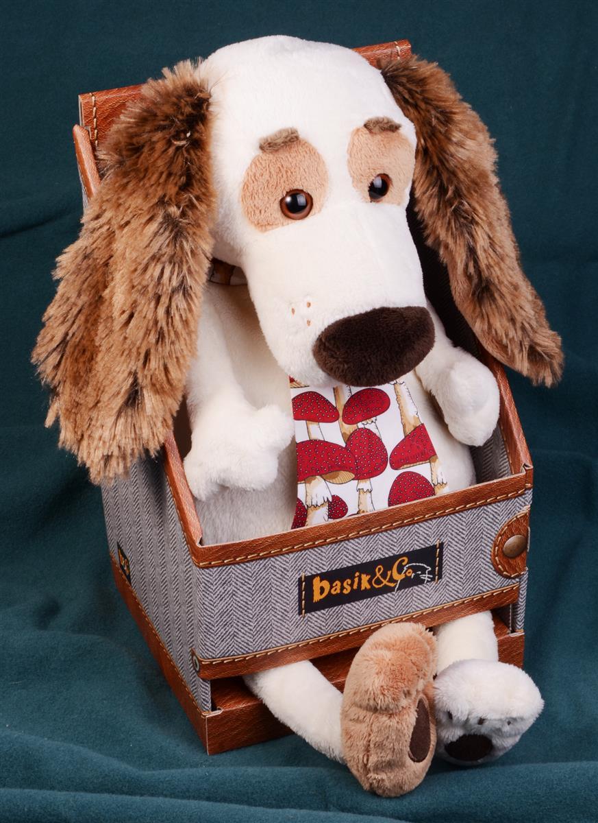 Мягкая игрушка Такса Бартоломей в галстуке (33 см)