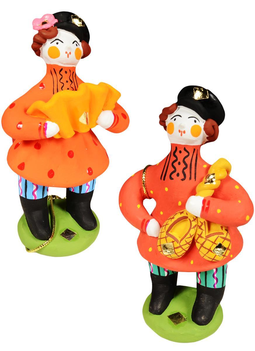 Дымковская игрушка Мужик №1 (10 см)