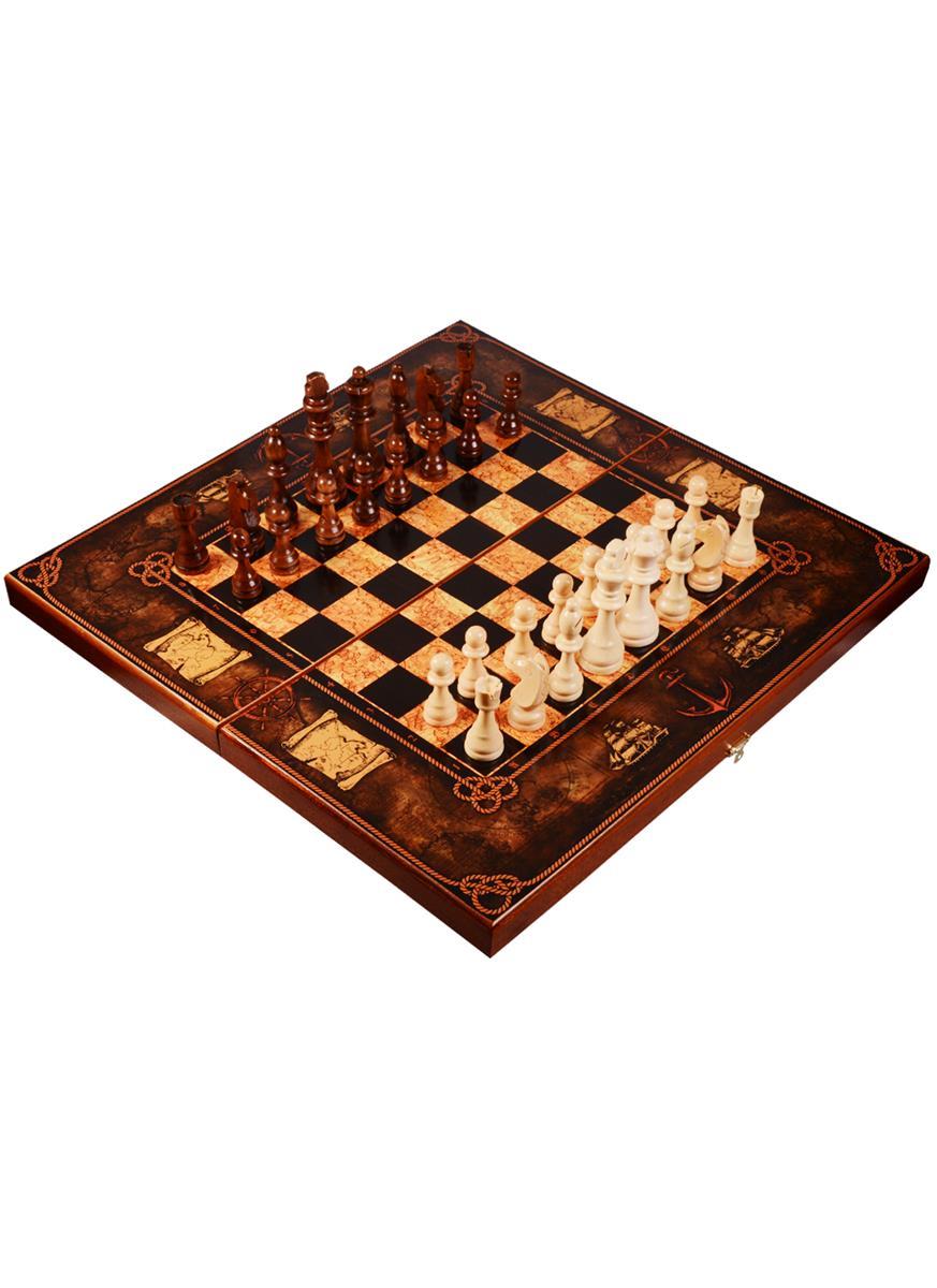 Шахматы Морская карта (большие) (50х50)