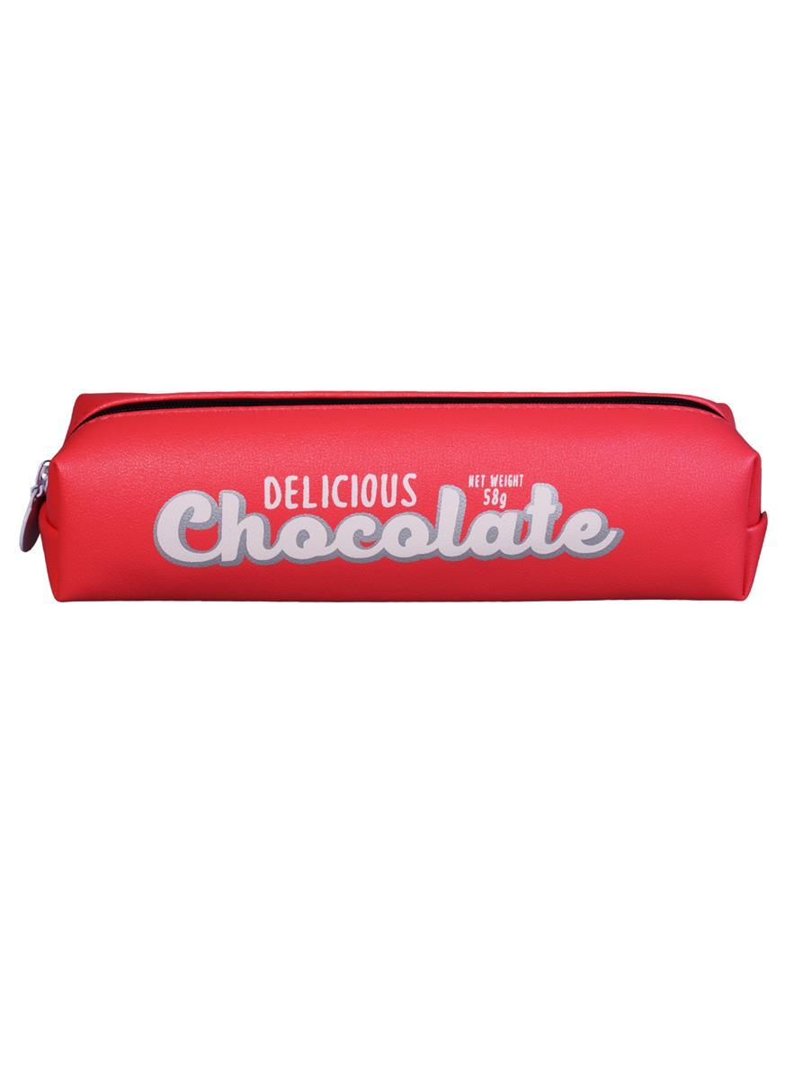 Пенал на молнии Шоколад (ПВХ) (20х4,5)