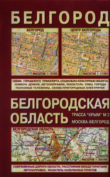 Белгородская область Белгород (1:300 000/1:18 000) Карта (раскладная) (Лоцман)