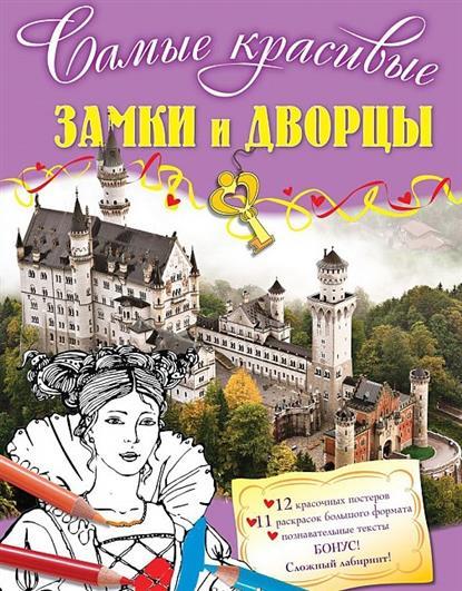 Замки и дворцы (12 красочных постеров, 11 раскрасок большого формата, познавательные тексты + Бонус - сложный лабиринт)