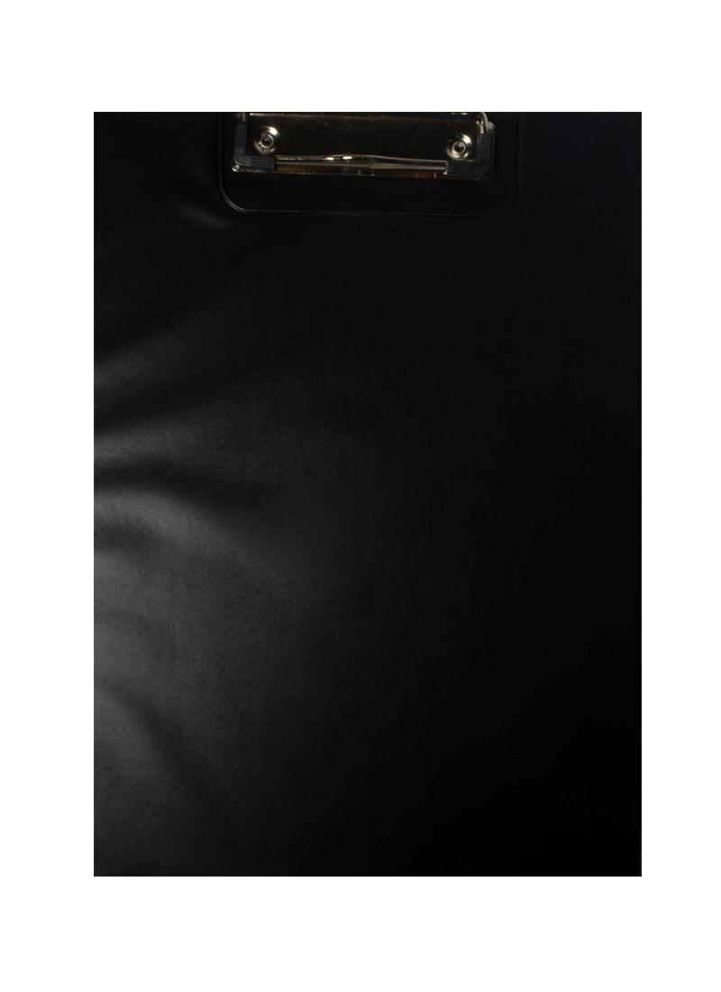 Папка-планшет А4 ПВХ, с карманом, черная, JJ