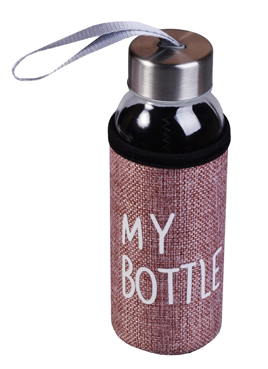 Бутылка в чехле джут My Bottle (стекло) (300мл)