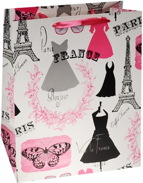 """Пакет подарочный бумажный """"Glamour"""", А4"""