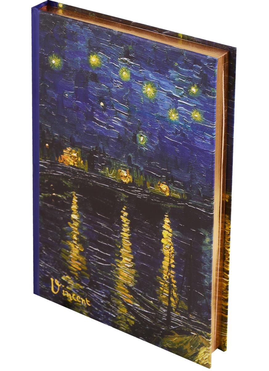 Блокнот Ван Гог Звёздная ночь над Роной (золотой обрез)
