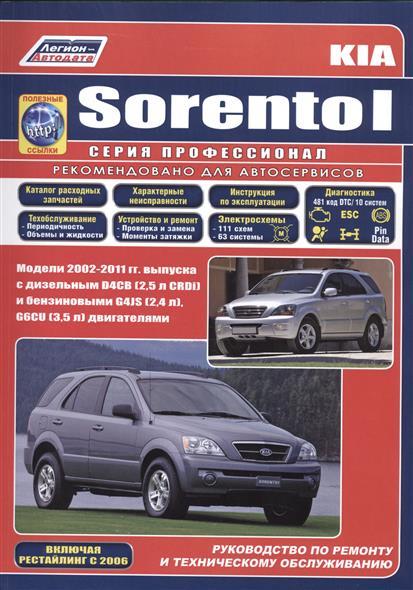 Kia SORENTO I. Модели 2002-2011 гг. выпуска с дизельным D4CB (2,5 л. CRDi) и бензиновыми G4JS (2,4 л.), G6CU(3,5 л.) двигателями. Включая рестайлинг 2006 года. Руководство по ремонту и техническому обслуживанию (+полезные ссылки)