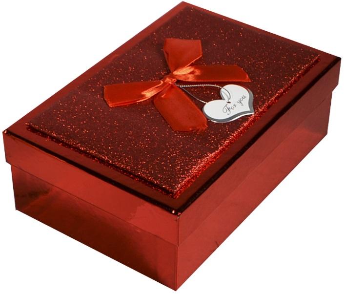 """Коробка подарочная """"Металлик красный"""", 14,5*21,5*7,5см"""