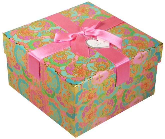 """Коробка подарочная """"Орнамент"""" бирюзовая, 17*17*9,5см"""