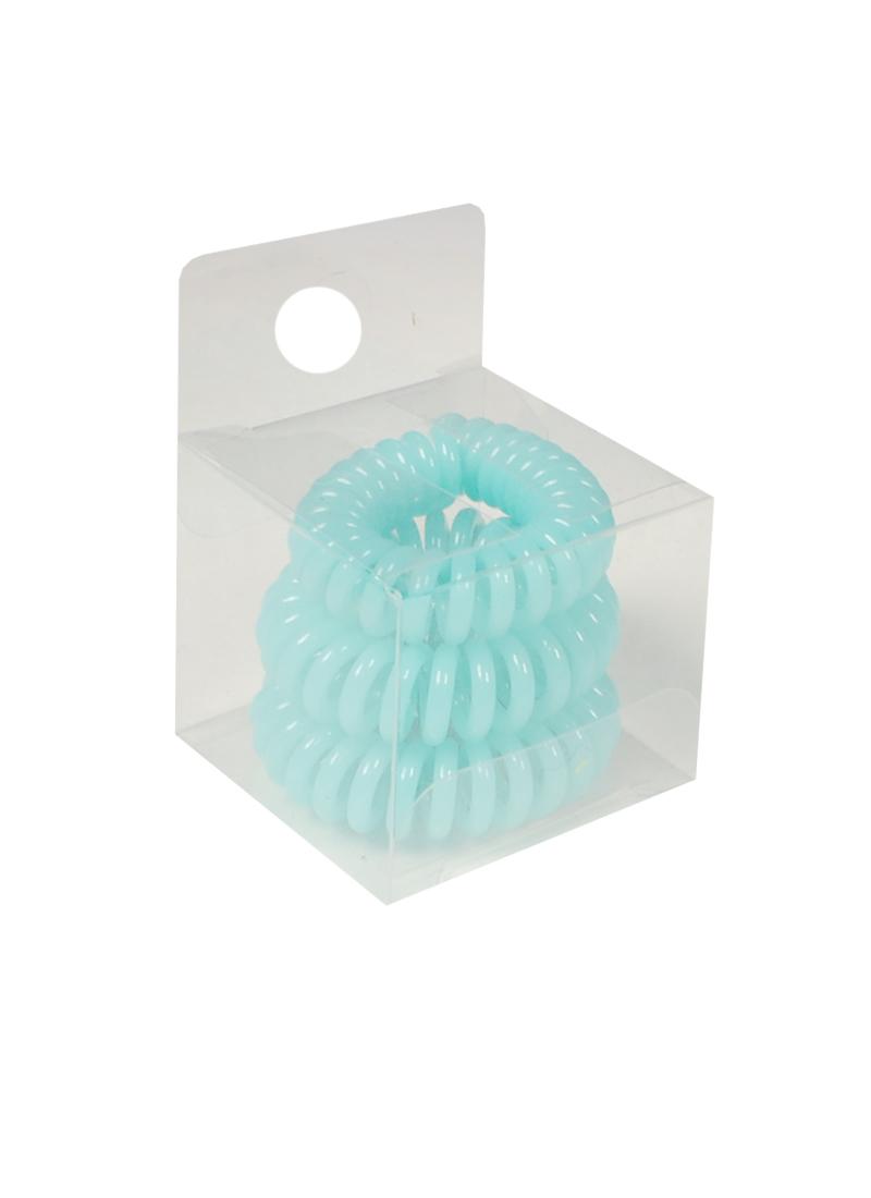 Резинка-браслет для волос мятная (3шт) (ПВХ бокс)