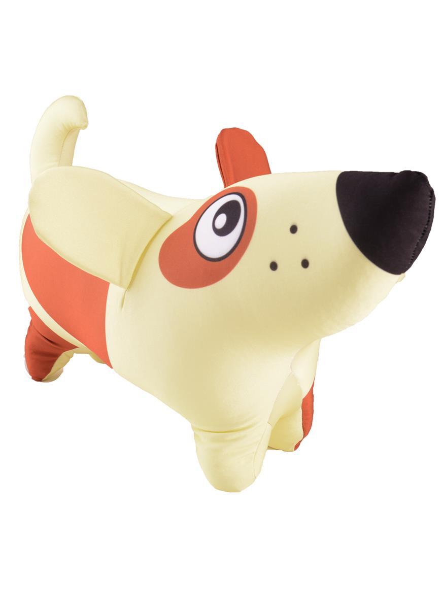 Игрушка-антистресс Собачка светлая с пятнышками (40х20)