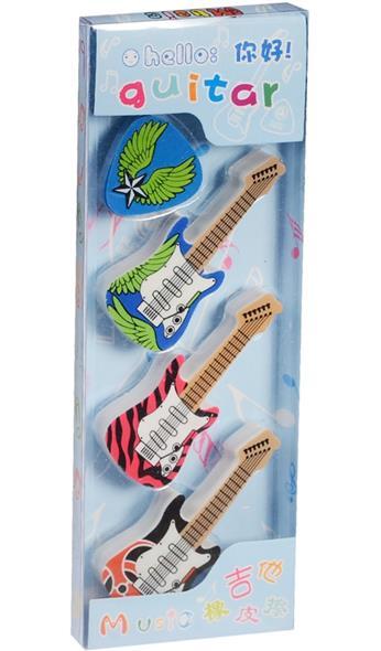 """Набор ластиков """"Три гитары с медиатором"""""""