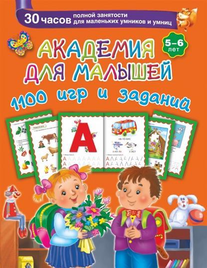 Дмитриева В. Академия для малышей. 1100 игр и заданий. 5-6 лет. 30 часов полной занятости для маленьких умников и умниц блуза pattern pattern mp002xw1gsf2