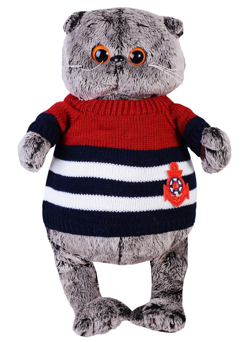 Мягкая игрушка Басик в морском свитере (30 см)