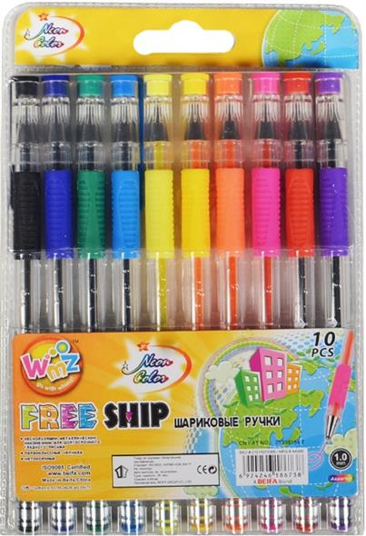 """Ручки шариковые """"Neon Color"""", 10 цв."""