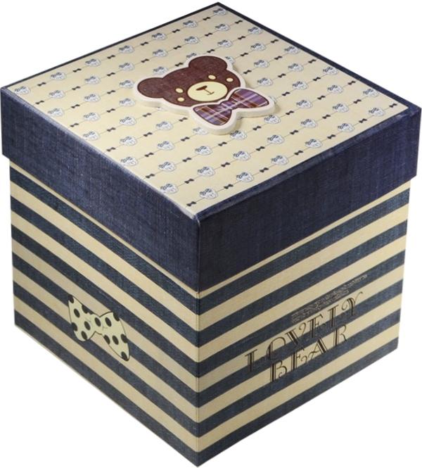 """Коробка подарочная """"Мишка"""" 15,5*15,5*15,5см"""