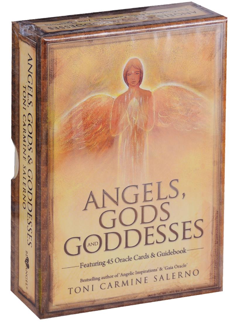 Salerno T. Angels, Gods, & Goddesses Cards / Ангелы, Боги и Богини (карты + инструкция на английском языке) магические послания богинь 44 карты инструкция