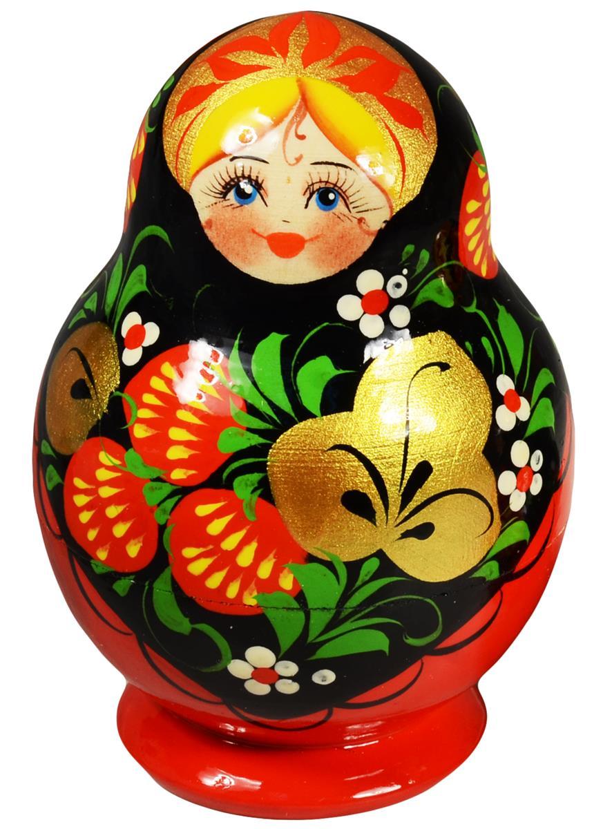 """Матрешка 5 предм. расписная авторская """"Кубышка"""", арт. С-203"""