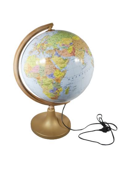 Глобус D32см физико-политический, с подсветкой, GLOWALA