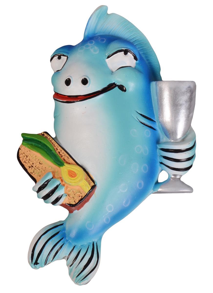 Керамический магнит Рыба с бутербродом M-232 (Минимилли)