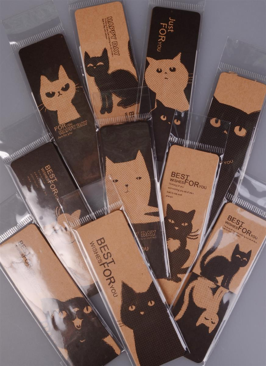 Закладки бумажные Кошки (004872)