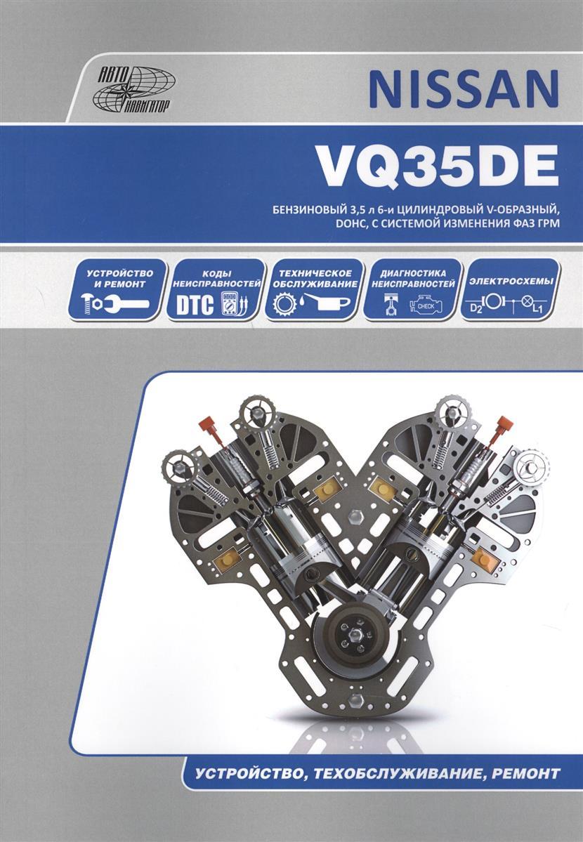 Nissan VQ35DE. Бензиновый 3,5 л 6-и цилиндровый V-образный, DOHC, с системой изменения ФАЗ ГРМ. Устройство, техобслуживание, ремонт