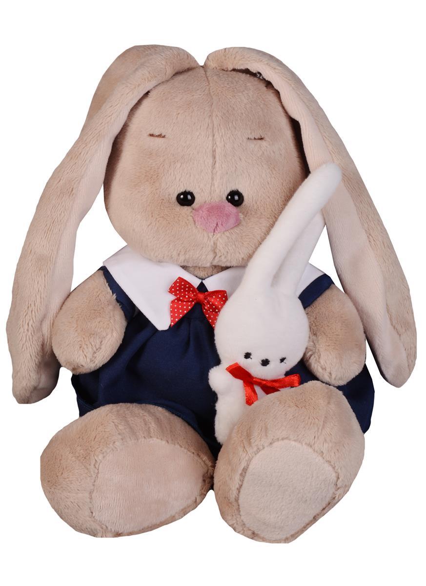 Мягкая игрушка Зайка Ми в синем платье с зайкой (18 см)