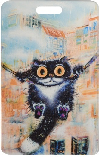 "Чехол для карточек ""Cat in the City: Качели"""