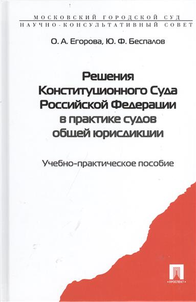 Решения Конституционного Суда Российской Федерации в практике судов общей юрисдикции. Учебно-практическое пособие