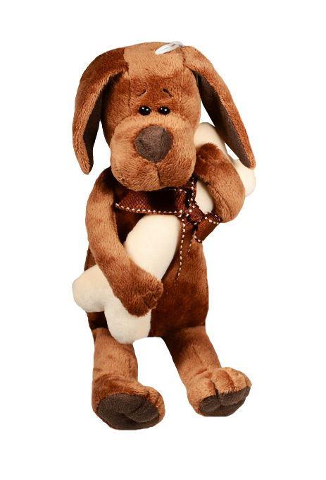 Мягкая игрушка Пёс Барбоська с косточкой (20 см) (OS071/20)