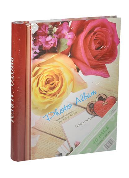 Фотоальбом магнитный 20 листов Розы (24х29)