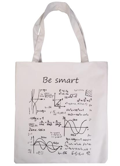 Сумка на молнии Формулы Be smart (белая) (37х38)