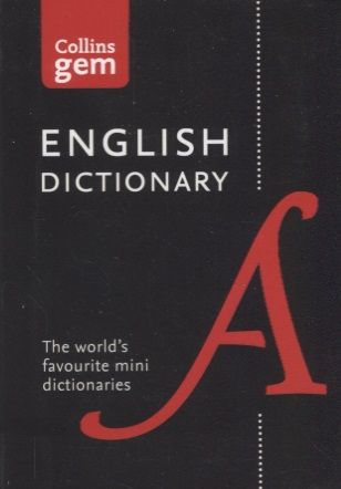 Collins English Dictionary Gem Edition. 85,000 words in a mini format  collins junior illustated dictionary