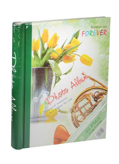 Фотоальбом магнитный 20 листов Желтые тюльпаны в вазе (24х29)